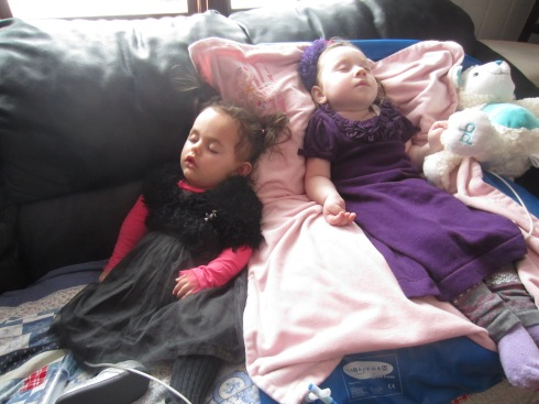 Slumber Party! :) Two princesses take an afternoon nap together