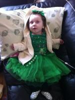 Lauren was the Irish Queen in our house on St Patricks Day